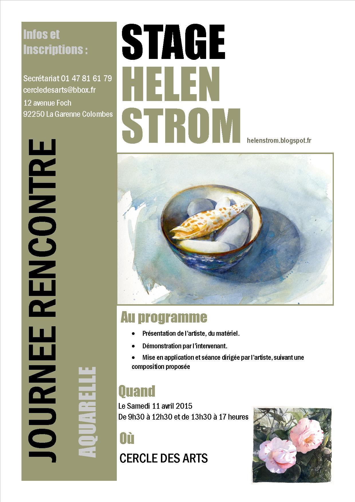 Journée aquarelle avec l'artiste Helen STROM.