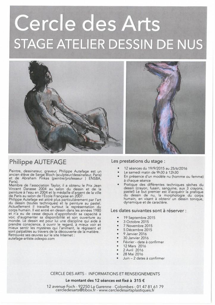 atelier dessin de nus