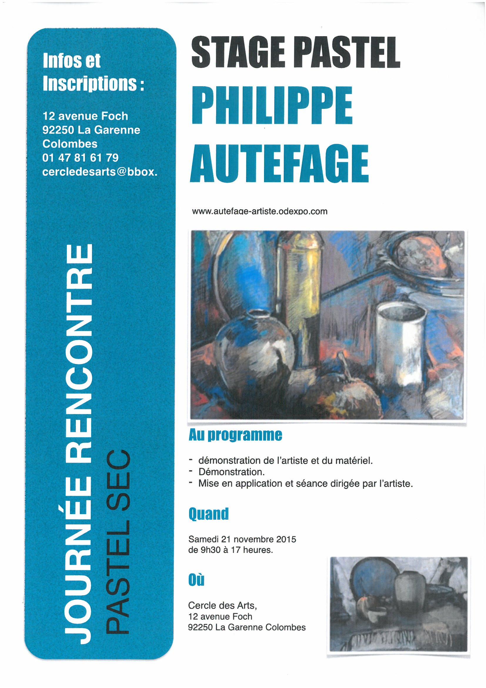 Stage Pastel SEC, rencontre de l'artiste Philippe AUTEFAGE